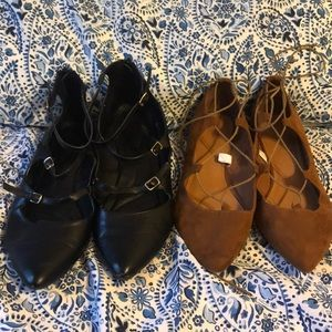 Lane Bryant and Mossimo point work shoes